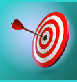 dart hitting a target isolated on white vector image