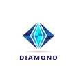 abstract blue diamond shape logo sign symbol icon vector image