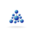 Abstract molecular structure symbol vector image vector image