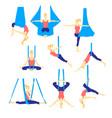 aero yoga flat icons vector image