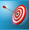 arrows hitting a target one target and three vector image