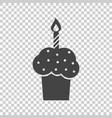 birthday cake flat icon fresh pie muffin on vector image