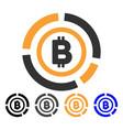 bitcoin circle diagram icon vector image vector image
