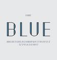blue font alphabet vector image