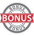 bonus sign certified badge vector image vector image