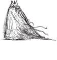 bridal dress drawing vector image