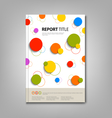 Brochures book or flyer with abstract colored vector image vector image