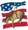 bronc rider vector image vector image