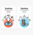 business finance vertical banners vector image vector image