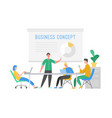 business meeting teamwork concept businessman vector image vector image
