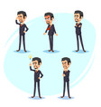 cartoon colorful of a handsome vector image vector image