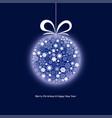 christmas ball 2 vector image vector image