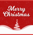 christmas greetings card with red background snow vector image