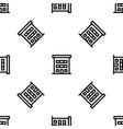 city house pattern seamless vector image