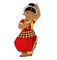 Cute dancing Indian girl vector image vector image