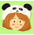 Cute Girl with Panda Hat vector image vector image