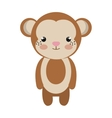 cute little monkey animal character vector image