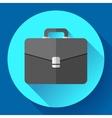 Dark Briefcase icon Flat designed style vector image vector image