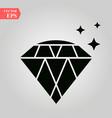 diamond icon diamond icon on white background vector image vector image