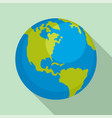 earth planet icon flat style vector image vector image