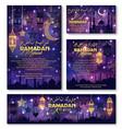 eid mubarak ramadan kareem holiday greeting vector image vector image