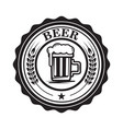 emblem with beer mug design element for logo vector image