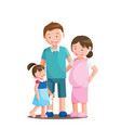 family portrait white isolated white background vector image