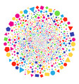 filled geometric shapes explosion round cluster vector image vector image