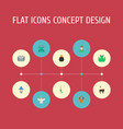 flat icons evil fire wizard and other vector image vector image