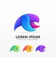 flying bird abstract logo design template vector image vector image