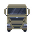 front view truck cargo freight delivery semi vector image vector image