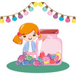 girl birthday party vector image