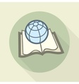 Globe on book science concept vector image vector image