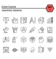 Graphic design thin line icons set vector image vector image