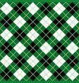 green black white argyle harlequin seamless patter vector image vector image
