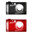 grunge digital camera vector image vector image