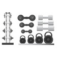 gym and fitness sport equipment weight vector image