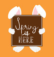 happy easter card design for spring holiday vector image vector image