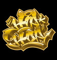hip-hop in golden graffiti funky style vector image vector image