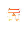 house building hospital icon vestor design vector image