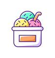 ice cream in cup rgb color icon vector image vector image