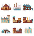 industrial factory buildings with pipe and bad vector image vector image