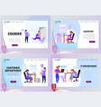 landing page template customer service assistant vector image