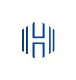 letter H business line logo vector image vector image