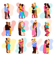 love hugs set vector image vector image