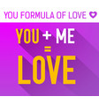 lovely flat template vector image vector image
