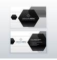 modern business card design made with black vector image vector image