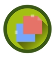 modern flat icon with the passage of tape vector image vector image