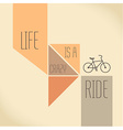 Motivation Quote - Life is a crazy ride vector image vector image