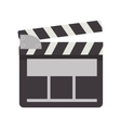 movie clapboard icon vector image vector image